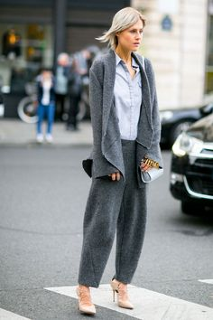 Street style à Paris : tendance pyjama chic