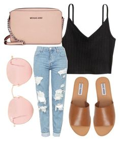 """""""Vibes"""" by jadenriley21 on Polyvore featuring Topshop, Steve Madden, Michael Kors and Ray-Ban"""