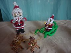 Beaded Boxes, Christmas Crafts, Christmas Ornaments, How To Make Beads, Barbie Clothes, Crochet Necklace, Helmet, Diy Crafts, Holiday Decor