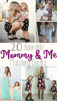 20 Mommy and Me Matching Outfits - Cute dresses and skirts to wear with your daughter! I love the gold polka dots skirts and the floral dresses. So cute! They have baby girl, toddler, and little girl sizes! #mommyandme #ad #matching