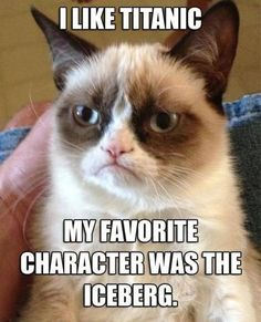 Grumpy Cat- titanic