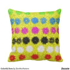 Colorful Dots Pillow
