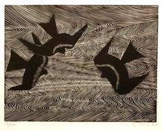 Marcks, Gerhard - 1955 Kites, woodcut