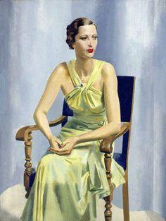 1930's Fashion, Alfred Reginald Thomson: Mrs Vivienne Hilliard,  1934