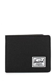 Кошелек Herschel Supply Co ROY + COIN Кошелек Herschel Supply Co. Цвет: черный. Материал: полиэстер. Сезон: Осень-зима 2016/2017. Спорт и отдых/Аксессуары/Кошельки