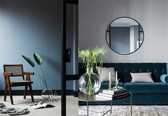 Blue is the latest colour in contemporary spaces and this Swedish apartment is a veritable delight.