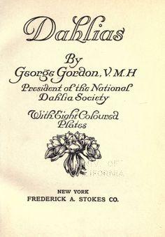 Dahlias. - Biodiversity Heritage Library