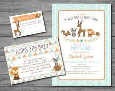 Woodland Baby Shower Invitation woodland by HappyGoLucyDesigns