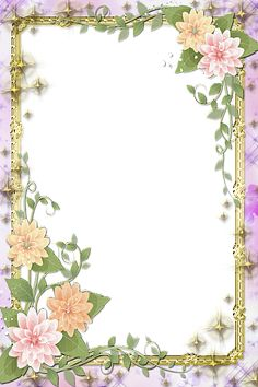 Transparent Flowers Frame