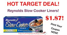 WOOHOO! Print your coupon to snag Reynolds Slow Cooker Liners for only $1.87 at Target! Don't you just love easy clean up?  Click the link below to get all of the details ► http://www.thecouponingcouple.com/hot-reynolds-slow-cooker-liners-deal-target/ #Coupons #Couponing #CouponCommunity  Visit us at http://www.thecouponingcouple.com for more great posts!