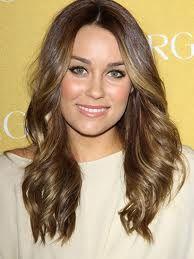 Brown hair highlights framing face