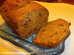 Pumpkin Bread - Moist and delicious with bits of chocolate inside.