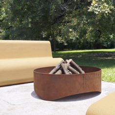 Plodes Wave Outdoor Fire Pit - Outdoor Lighting - LIGHTING