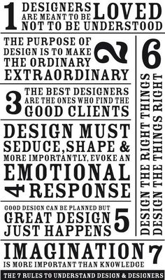 7 Rules to Understand Design & Designers