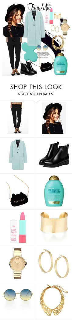 """""""Dinamit Jeans Quilted Pant"""" by fashionoutletny on Polyvore featuring ASOS, Armani Jeans, WithChic, Organix, Rimmel, Movado, Panacea, Oscar de la Renta, quilted and winterfashion"""