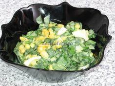 Salata de leurda cu porumb Potato Salad, Potatoes, Ethnic Recipes, Food, Salads, Potato, Meals, Yemek, Eten