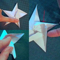 kreative Idee für Weihnachtssterne aus Papier selber falten