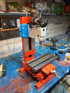 Milling Table, Cnc Table, Metal Workshop, Diy Workshop, Metal Working Tools, Metal Tools, Milling Machine, Machine Tools, Homemade Tools