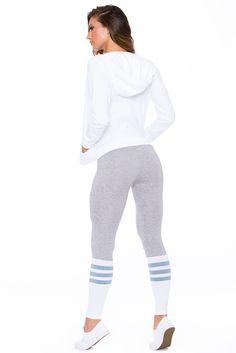 """Platinum """"NEW"""" Color Sock Leggings By Bombshell Sportswear"""