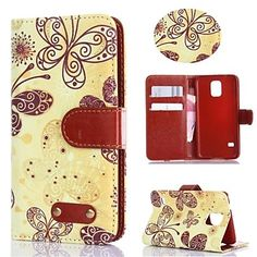 Retro Design Butterfly Pattern PU Leather Full Body Cover with Card Slot for Samsung Galaxy S5 I9600 – EUR € 8.99