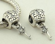 CLFJ079 925 Sterling Silver Key And Lock Pandora Charms beads Jewelry Pandora House