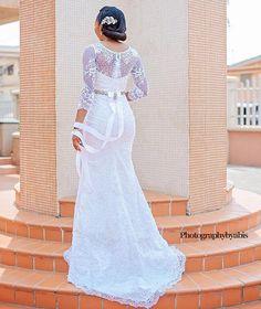❤️ wedding dress by Nigerian designer @t16worldoffashion |  @photographybyabis #BellaNaijaWeddings