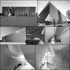 Museum of the History of the Polish Jews - Lahdelma & Mahlamäki Architects.  http://www.jewishmuseum.org.pl/en  Helsinki-based Lahdelma & Mahlamäki Architects collaborated with Polish firm Kuryłowicz & Associates to build The Museum of the History of Polish Jews.Located on the former site of the Second World War Warsaw Ghetto, the museum is used for a combination of research, education, exhibitions and culture relating to the Jewish heritage.- in Warsaw, Poland.
