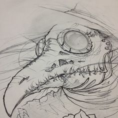 Sketch for a plague doctor piece @extragr_am