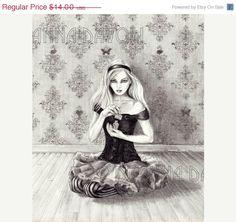 Alice In Wonderland Art 8x10 Art Fairy Tale by deannadavoli