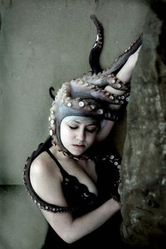 but a fleeting touch - Jessica Tremp Grendel's Mother, Art Costume, Costumes, New Gods, Sea Monsters, Female Poses, Cthulhu, Tentacle, Beauty Photography