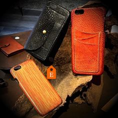 Composition of iphone leather caseS. Only veg tanned leather made in Italy. You can customize it with initials name text or personal logo. #fattoamano #iphonecase #iphonecases #iphoneleathercase #iphonecustomcase #iphonecustom
