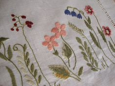 Flower embroidery.