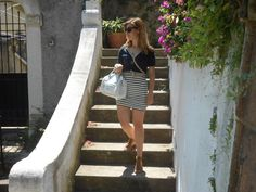 Summer stripes, black and White, Timeless mode, outfit