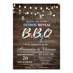 Shop Baby Gender Reveal Invitation created by NellysPrint. Gender Reveal Party Invitations, Gender Reveal Party Decorations, Baby Gender Reveal Party, Gender Party, Baby Invitations, Baby Shower Invitations For Boys, Country Gender Reveal, Firework Gender Reveal, Baby Shower Themes Neutral
