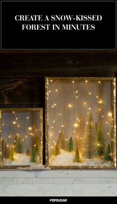 Easy DIY holiday shadow box