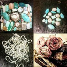 Bracciale in argento e opale azzurro