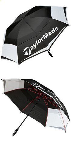 Golf Umbrellas 18933: Taylormade Tour Double Canopy 64 Golf Umbrella 2017 Black White Gray New -> BUY IT NOW ONLY: $59.99 on eBay!