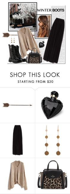 """""""Grunge Meets Glam"""" by yummymummystyle ❤ liked on Polyvore featuring Creative Co-op, Lipsy, Needle & Thread, Henri Bendel, Chicwish, Kate Spade, Dolce&Gabbana, StreetStyle, militaryboots and dolcegabanna"""