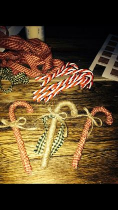 Wrapped candy canes.