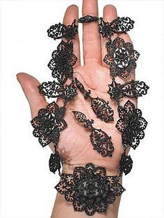 Necklace & Earrings | Berlin Iron Jewelry ~ attributed to Berlin iron master Johann Conrad Geiss | 19th century