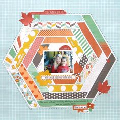 Pam Callaghan Chickaniddy Crafts Scrumptious My Smile Layout