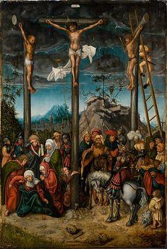 "Lucas Cranach den Ældre (ca. 1472- 1553), ""Korsfæstelsen"", ca. 1506-1520  Statens Museum for Kunst / National Gallery of Denmark. http://www.smk.dk/index.php?id=2900"