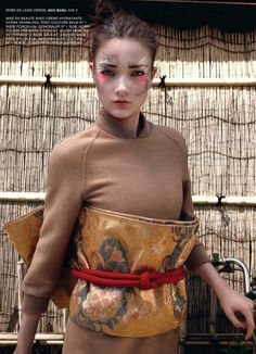 "Dreaming of Dior: ""Samurai Glamour"" Yumi Lambert for L'Express Styles November 2015"