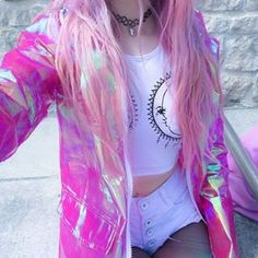 Heridas que destrozan por dentro dejando cicatrices por fuera...#tumblr #grunge #holographic #pink #pinkhair #kawaii #cute #love #sad #sadgirl #shocker #hair #pale