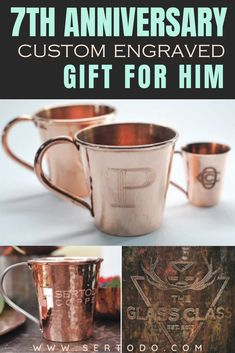 Celebrate this important milestone with our custom copper engraved, personalized copper goods! Present our gorgeous personalized handmade copper goods as your anniversary gift for him by choosing one o our custom gifts right here. 7 Year Anniversary Gift, Copper Anniversary Gifts, Wedding Anniversary, Copper Wedding Decor, Copper Decor, Personalized Wedding Gifts, Customized Gifts, Custom Gifts, Copper Gifts For Her