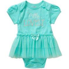 Garanimals Newborn Baby Girl Glitter Dot Tutu Bodysuit - Walmart.com
