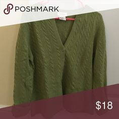 Olive green cardigan Great condition Talbots Sweaters Cardigans