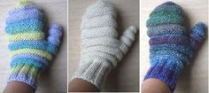Snow Mittens-This pattern is available as a free Ravelry download. These mittens are worked in the round in bands of reverse stocking stitch which makes them really warm and also means that they will stretch to fit most adult hands. You could even wear them over another pair of thin gloves on the coldest days.