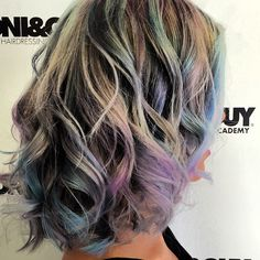 Oil slick hair color by Courtney Greenday From Toni  and Guy Irvine Spectrum