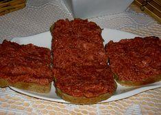 Tatarák z buřtů recept - TopRecepty.cz Meatloaf, No Cook Meals, Ham, Steak, Beef, Cooking, Recipes, Food, Meat